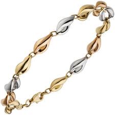 Armband 585 Gold Gelbgold Rotgold Weißgold tricolor dreifarbig 19cm Goldarmband