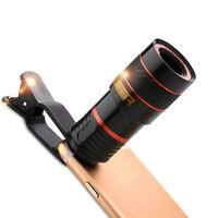 8x Zoom Camera Optical Telephoto Telescope Lens Holder Kit For Mobile Cell Phone
