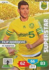 FCN-13 FILIP DJORDJEVIC # SERBIA FC.NANTES CARD ADRENALYN FOOT 2014 PANINI