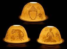 Lithophanie - Photophore en porcelaine - Méditation - Bouddha - 3 motifs