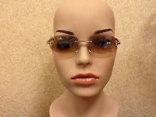 Nine West Sunglasses Show Girls 018S Brown Rimless Flash Mirror 54-18 130