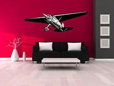"""Vintage World War 2 Airplane Wall Decal Vinyl Aviation Sticker 9""""x20"""" Home Decor"""