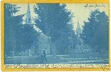 Cyanotype Real Photo Congregational Church Norwich NY