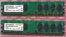 2x 1GB RAM swissbit DDR2 667MHz PC2-5300U DIMM 240pin NEU! # SEU01G64A3BH1MT-30R