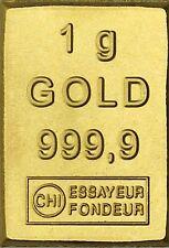 1 Gramm Gold Goldbarren 1 g CombiBar Valcambi Schweiz in Münzen Kapsel
