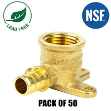 """100 New 1//2/"""" PEX BRASS LEAD FREE DROP EAR ELBOWS Fitting replace Nibco PX81400"""
