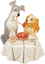 Lenox Disney Lady and the Tramp Figurine Spaghetti Scene Coa New In Box