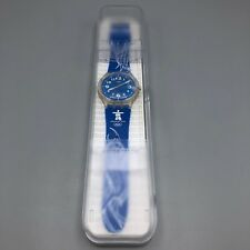 Vancouver 2010 Volunteer Swatch Wristwatch Inukshuk Blue New Battery