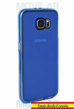 Funda carcasa gel / TPU Samsung Galaxy S6 G920 azul antihuellas