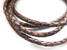 Lederband, 1 m, 3 mm, rotbraun