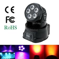 75W DMX512 LED Rotating Moving Head Stage Light Lighting Wash Fixture RGBWY DJ