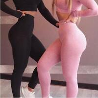 Women Compression High Waist Pants Seamless Sports Yoga Leggings Running Trouser