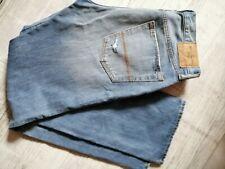 Abercrombie & Fitch Jeans 32/32 azul con cierre de botones para hombre recto Relax