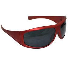 Sunglasses RED Frame UV400 Lens Men's Women's Retro Wrap Shades Sports Driving