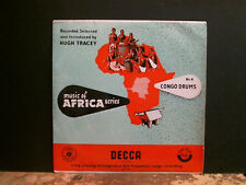 "Hugh Tracey música de África-Nº 4. Congo Tambores Lp 10"" copia encantador!"