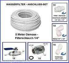 """Wasseranschluss SET 1/2"""" Absperrhahn Osmose Schlauch Kupplungen Osmoseanlage"""