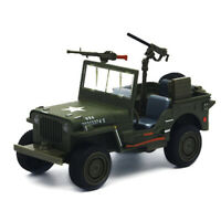 1:24 Willys WW II Jeep Off-road SUV Military Force Car Model Toy Vehicle Diecast