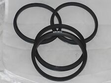 FOUR PC CHEVY GMC 117 MM DUALLY HUB CENTERING RINGS FOR EAGLE ALLOYS WHEELS RIMS