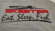 New Authentic Skeeter Gray Short Sleeve T-Shirt with Eat. Sleep.Fish.Logo - XL