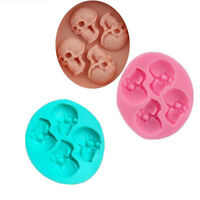 1xSkull Silicone Mould Cupcake Chocolate Fimo Polymer Clay Goth Soap Wax Mold