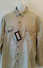 Mens Polaris Ranger Targhee Fishing Shirt Beige  Size 2XL  NWT