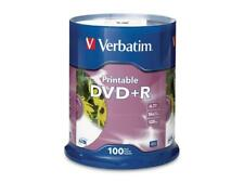 Verbatim DVD+R 4.7GB 16X Branded White Inkjet, 100pk Spindle