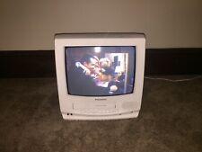 """Panasonic Omnivision PVQ-1300WA 13"""" CRT Color TV/VCR Combo Retro Gaming - Remote"""