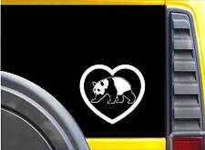 "Panda Heart Sticker K605 6"" Vinyl decal"
