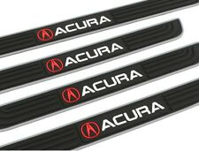 X4 Silver Rubber Car Door Scuff Sill Cover Panel Step Protector For Acura