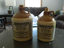 2 Racoon Mountain Sorghum syrup pottery stoneware jugs bottles Qt & PT