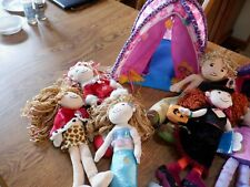 Groovy Girl Tent, Dog with House, and 6 Dolls