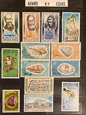 Lot de timbres neufs Territoires français des Afars et des Issas (Djibouti)