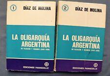 LA OLIGARQUIA ARGENTINA SU FILIACION Y REGIMEN (1840-1898): DIAZ DE MOLINA 1970