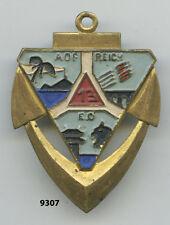 Insigne artillerie colo., 13  Gpe. Colonial  / DCA. - AOF.  , ( palmier noir  )