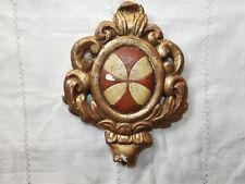Sublime élément en Bois Doré et Sculpté à décors de croix, époque 18ème siècle !