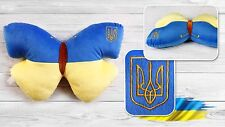 Ukrainian Flag Color Soft Plush Toy Pillow Butterfly Souvenir Baby Kids Children