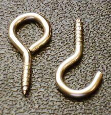 HOOK & EYE for CURTAIN WIRE NICKEL PLATED STEEL 22mm