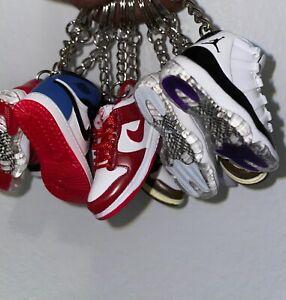 New Mini 3D AIR JORDAN Nike sneaker shoe keychain white