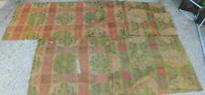 New listing 2 Colorful Victorian Ingrain Wool Carpet Strip Runner 1880 3x11 Green Red Scraps