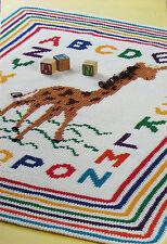 Crochet Pattern Only ~ Baby Giraffe Afghan with Alphabet & Rainbow Border