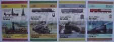 1986 NUKUFETAU Set #2 Train Locomotive Railway Stamps (Leaders of the World)