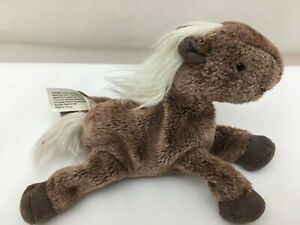 "Roan Pony Horse Brown White Mane Tail Animal Alley Plush 6"" Toy's R Us Lovey"