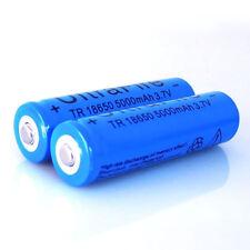 2pcs Blue BRC 5000mAh 3.7V Li-ion 18650 Rechargeable Battery Batteries
