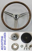 "New! 1968 Camaro GRANT Wood Steering Wheel SS Center cap 15"" Real walnut"