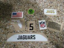 Jacksonville Jaguars  20 mil 3M vinyl full size football helmet decals