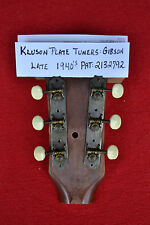 Gibson Kluson Plate Guitar Tuners Vintage 1940s Pat 2132792 J-45 LG No hdwr