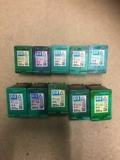 More details for 10 x genuine hp empty ink cartridges - 351xl tri colour - never refilled