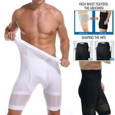Men's Compression High Waist Boxer Shorts Tummy Slim Body Shaper Girdle Panties
