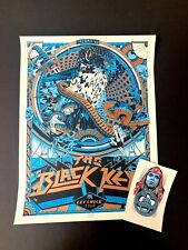 Signed BLACK KEYS TACOMA WA Poster TYLER STOUT Art Print 2019 #/80 + HANDBILL