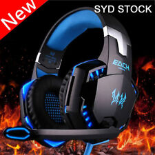Gaming Headset LED Headband Luminous Headphones + Microphone Mic For PC USB NB